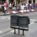 Coș de gunoi în Barcelona